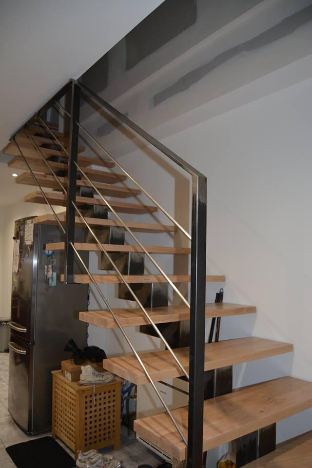 Marches escalier en hêtre